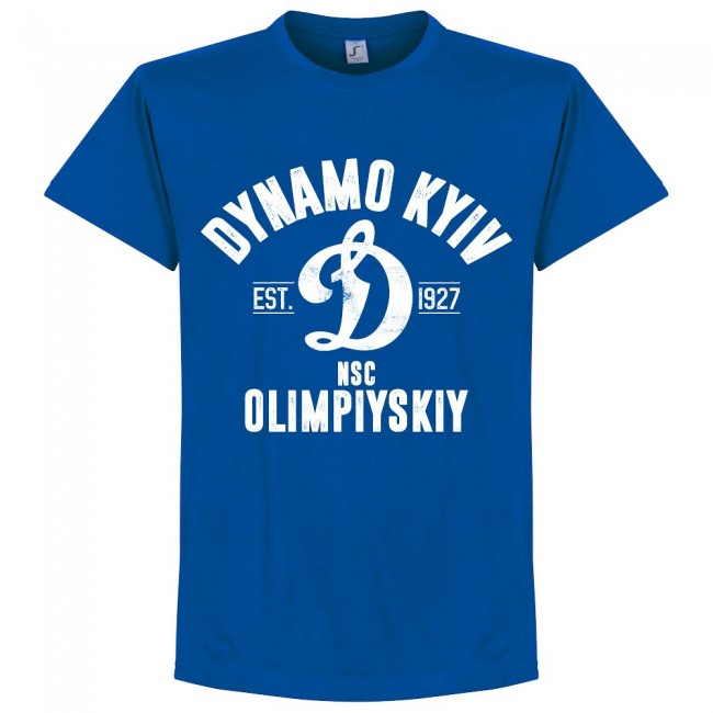 Dynamo Kyiv Established T-Shirt - Royal - Terrace Gear