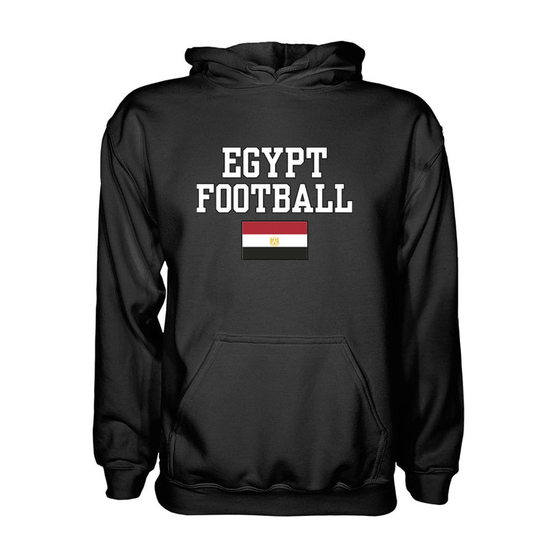 Egypt Football Hoodie - Black