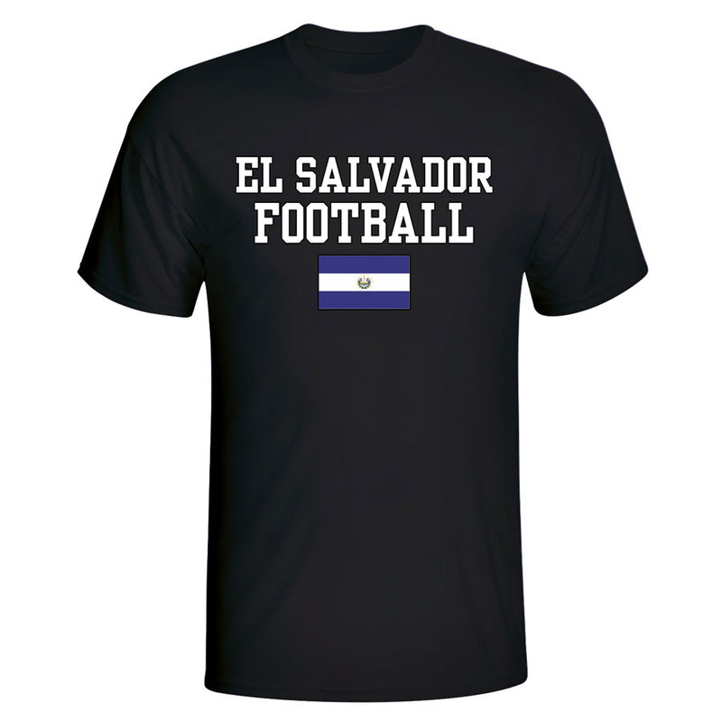El Salvador Football T-Shirt - Black