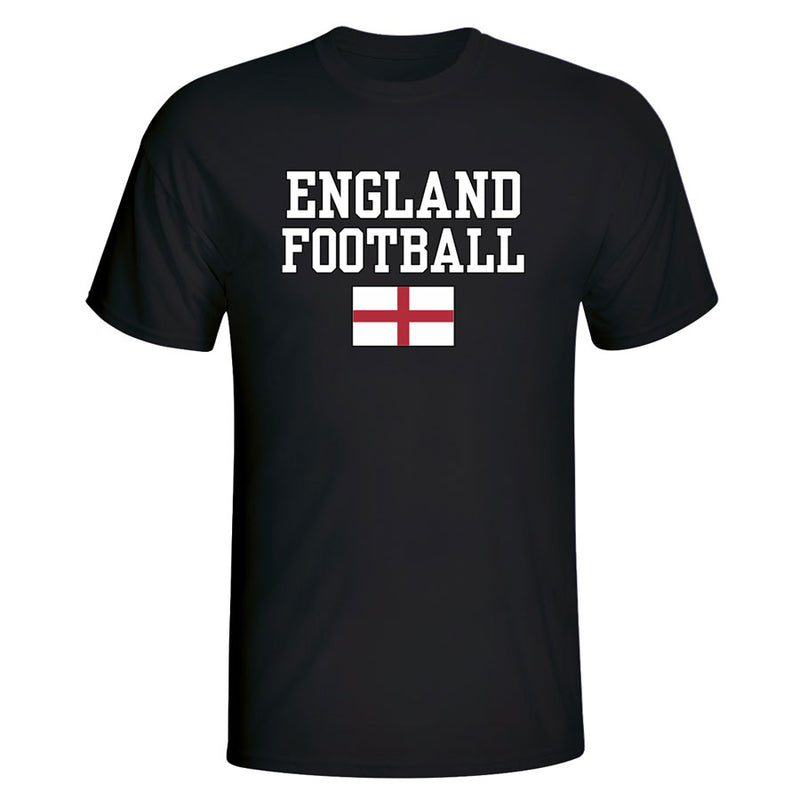 England Football T-Shirt - Black