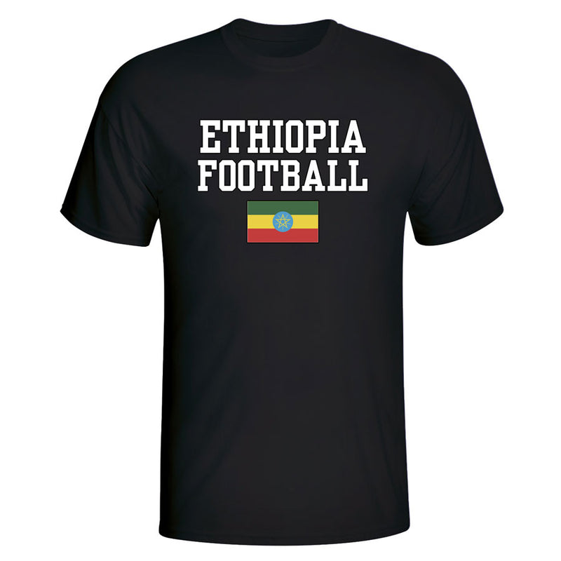 Ethiopia Football T-Shirt - Black