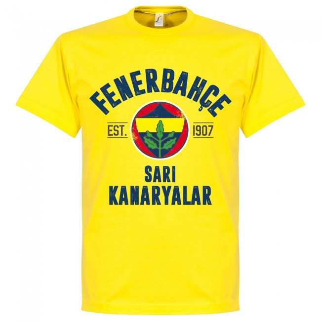 Fenerbache Established T-Shirt - Lemon Yellow