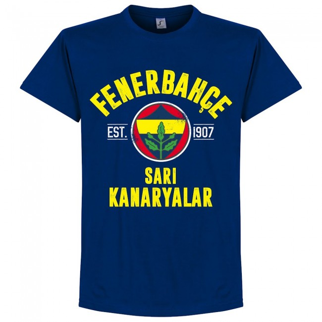 Fenerbache Established T-Shirt - Ultramarine - Terrace Gear