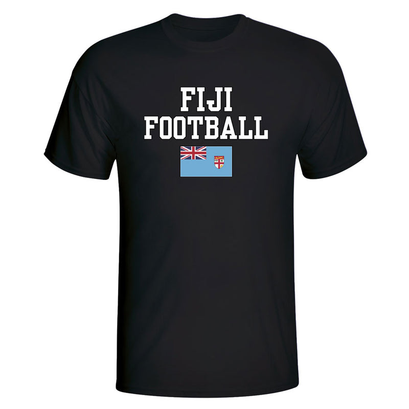 Fiji Football T-Shirt - Black