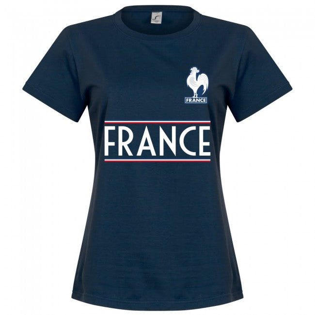 France Team Womens T-Shirt - Navy