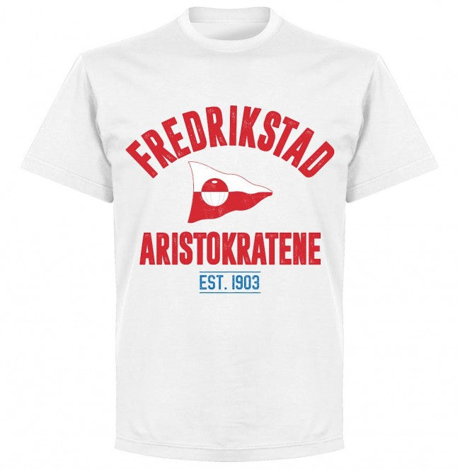Fredrikstad Established T-shirt - White - Terrace Gear