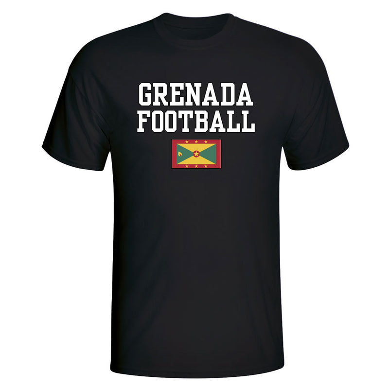 Grenada Football T-Shirt - Black