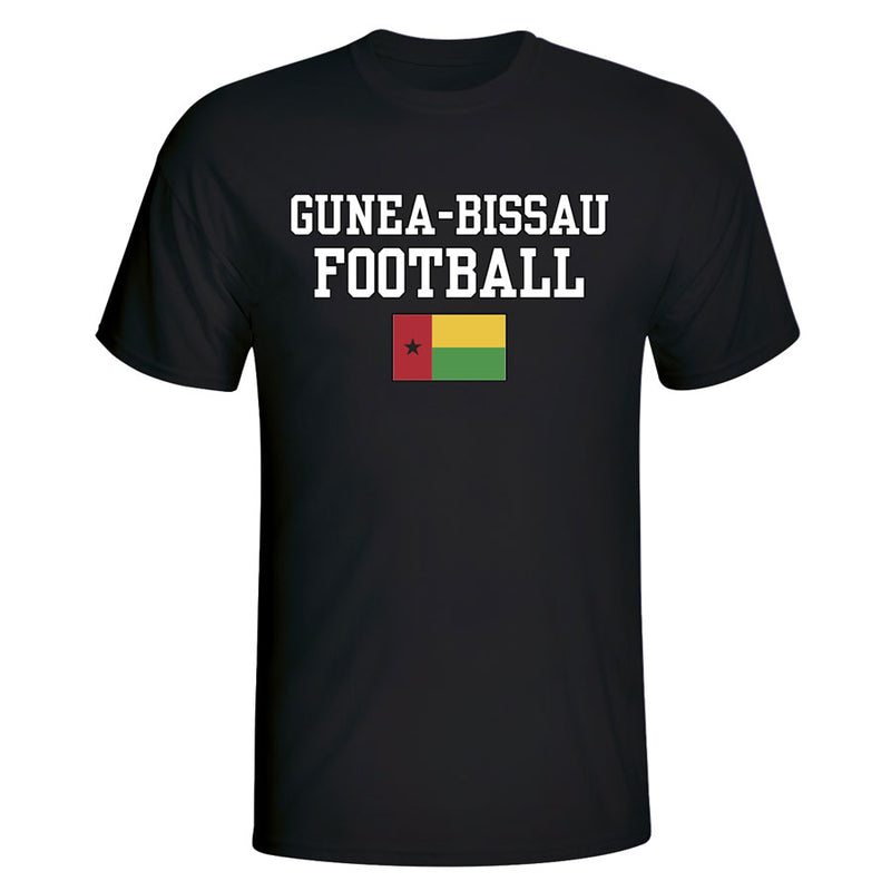 Gunea Bissau Football T-Shirt - Black