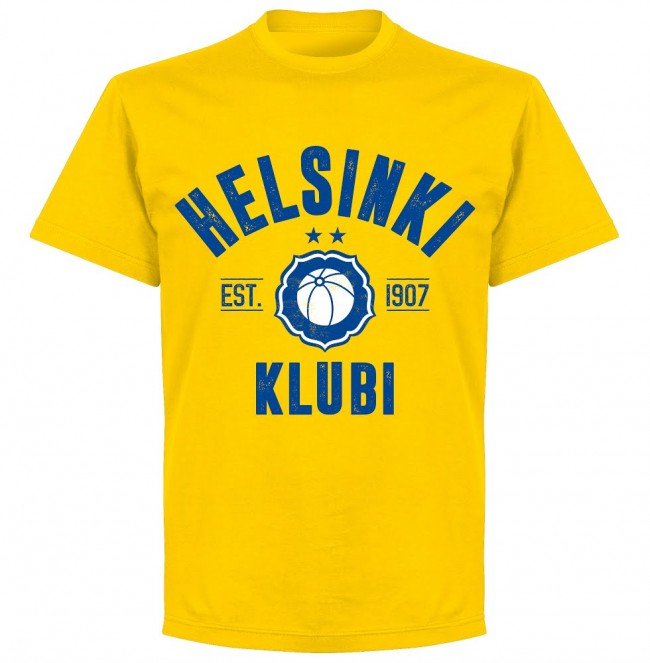 Helsinki Established T-shirt - Yellow - Terrace Gear