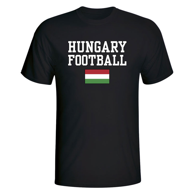 Hungary Football T-Shirt - Black