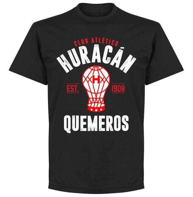 Huracan Established T-Shirt - Black - Terrace Gear