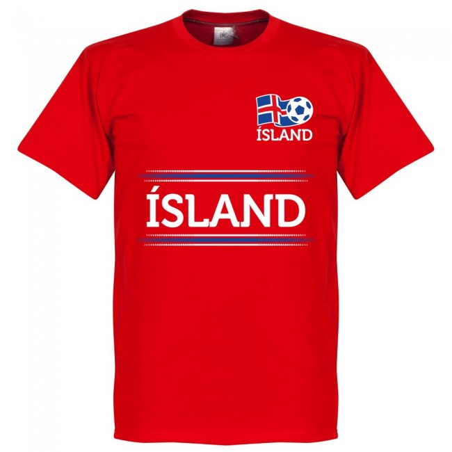 Iceland Team T-Shirt - Red