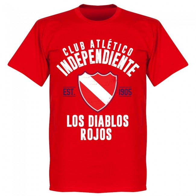 Independiente Established T-Shirt - Red - Terrace Gear