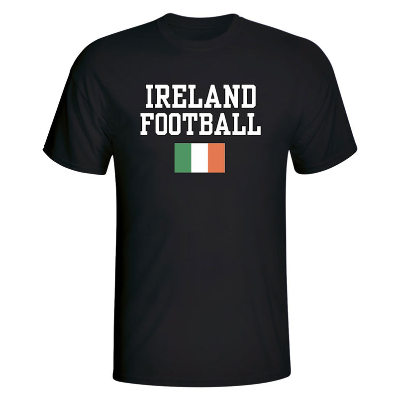 Ireland Football T-Shirt - Black