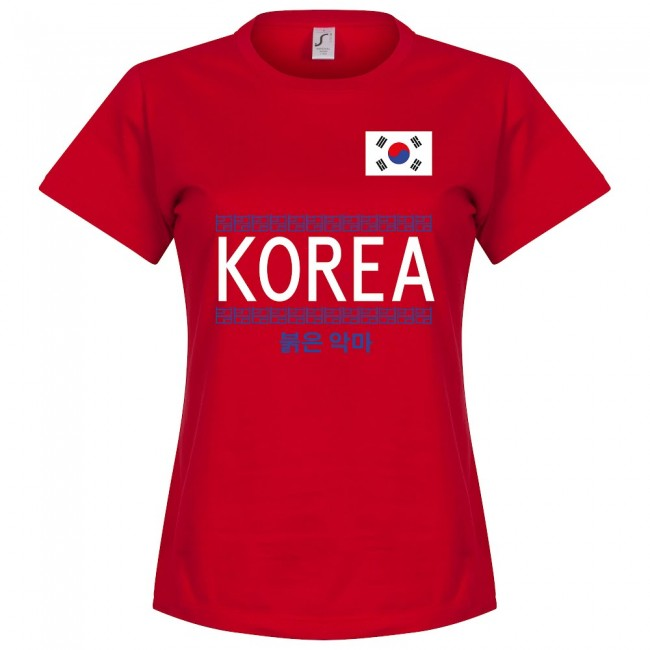 Korea Team Womens T-Shirt - Red