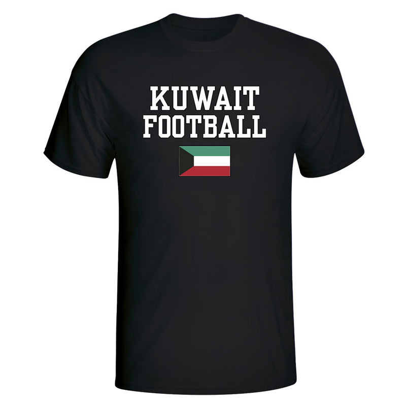 Kuwait Football T-Shirt - Black