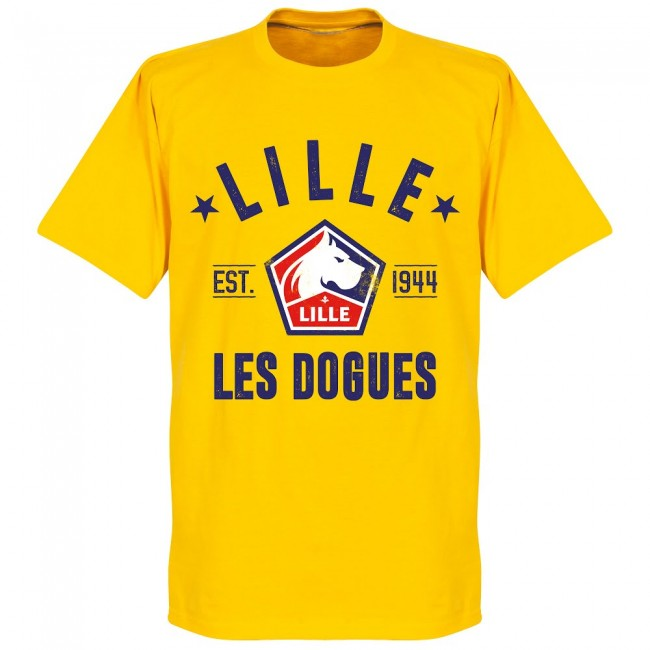 Lille Established T-Shirt - Yellow - Terrace Gear