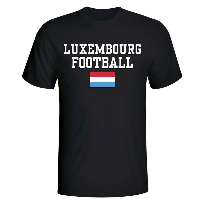 Luxembourg Football T-Shirt - Black