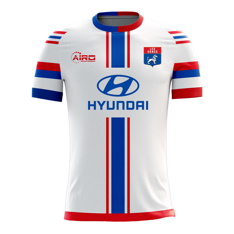 Lyon 2020-2021 Home Concept Football Kit (Airo) - Terrace Gear