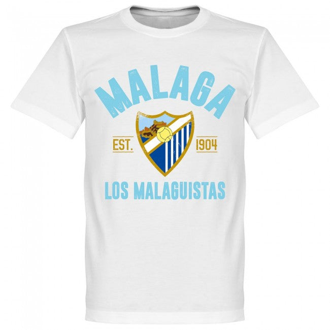Malaga Established T-Shirt - White - Terrace Gear