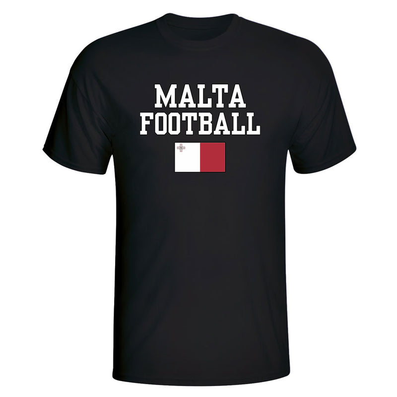 Malta Football T-Shirt - Black