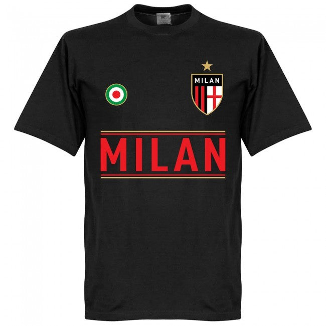 Milan Team T-Shirt - Black
