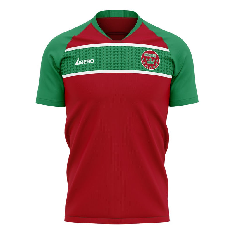 Morocco 2020-2021 Home Concept Football Kit (Libero) - Terrace Gear