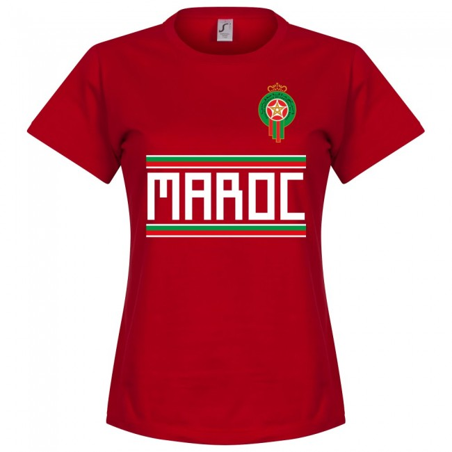 Morocco Team Womens T-Shirt - Red