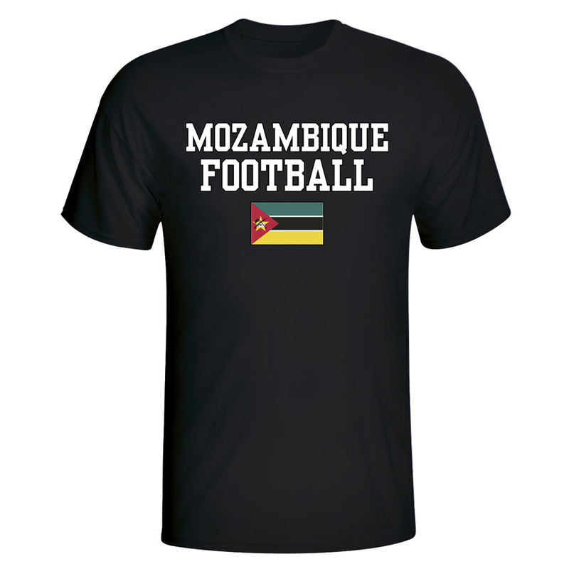 Mozambique Football T-Shirt - Black