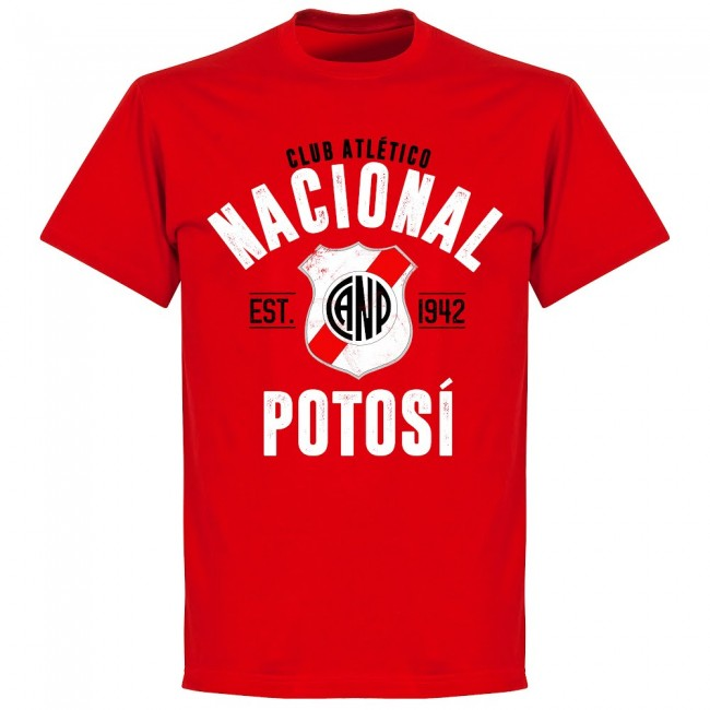 Nacional Potosí Established T-Shirt - Red - Terrace Gear