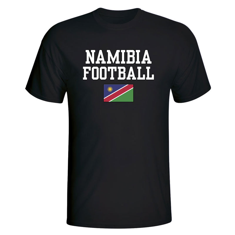 Namibia Football T-Shirt - Black