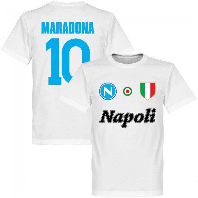 Napoli Maradona 10 KIDS Team T-Shirt - White