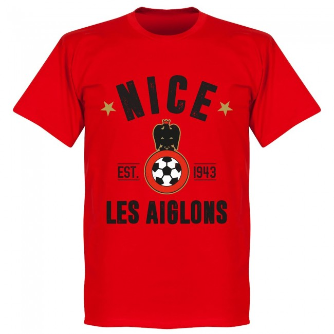 Nice Established T-Shirt - Red - Terrace Gear