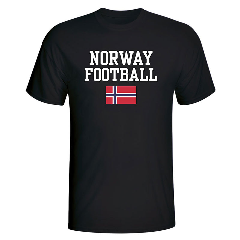 Norway Football T-Shirt - Black