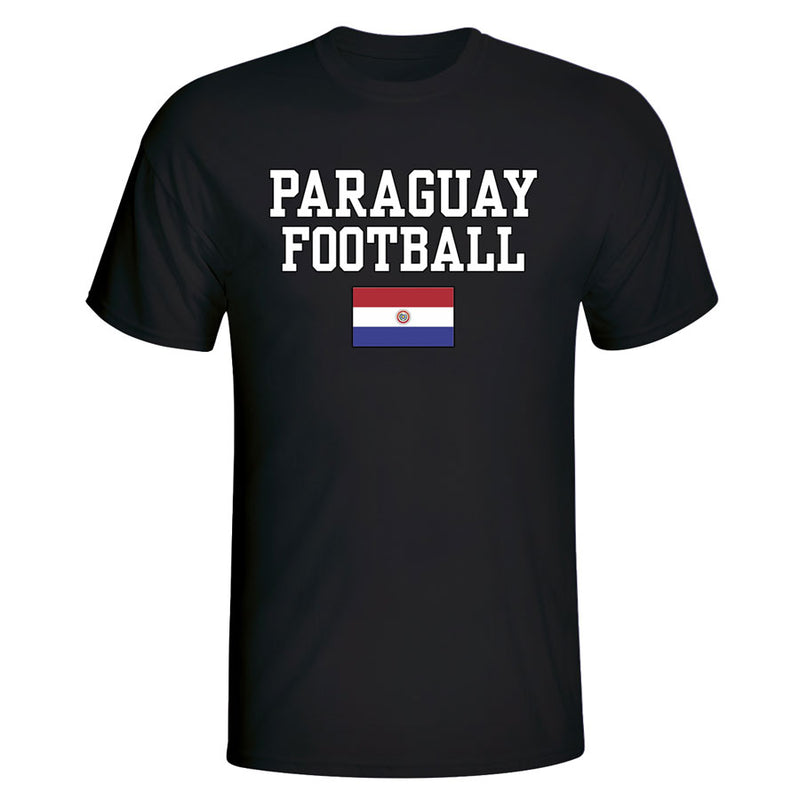 Paraguay Football T-Shirt - Black