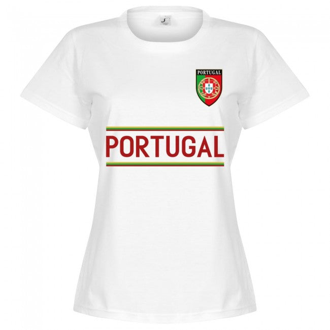 Portugal Team Womens T-Shirt - White