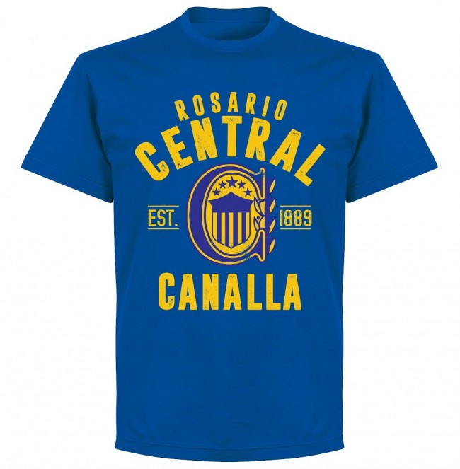 Rosario Central Established T-shirt- Royal - Terrace Gear
