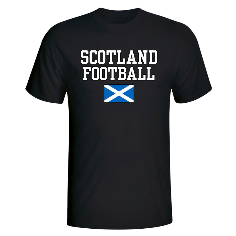 Scotland Football T-Shirt - Black