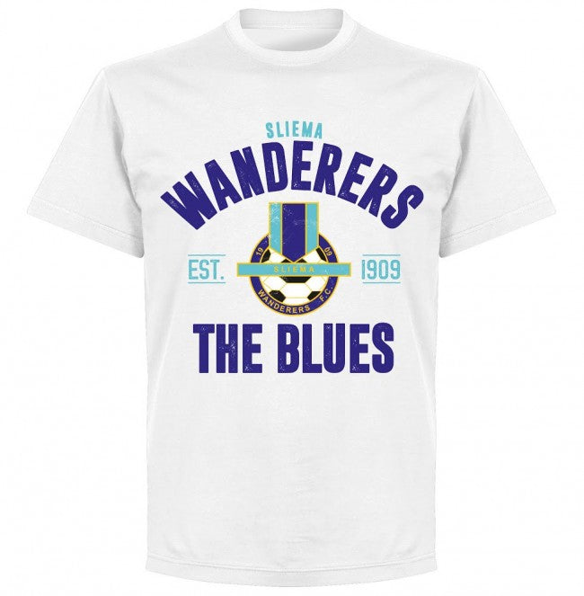 Sliema Wanderers Established T-shirt - White - Terrace Gear
