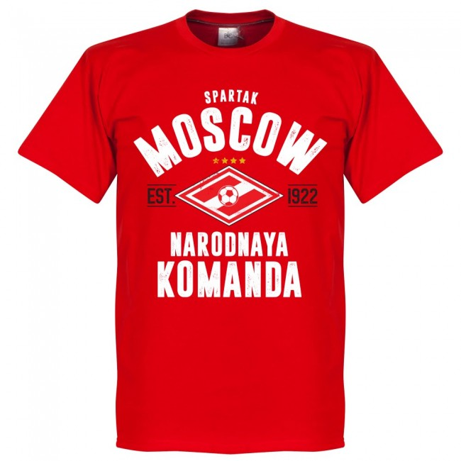 Spartak Moscow Established T-Shirt - Red - Terrace Gear