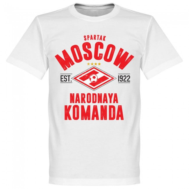 Spartak Moscow Established T-Shirt - White - Terrace Gear