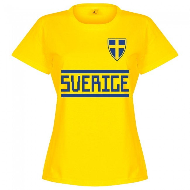Sweden Team Womens T-Shirt - Yellow