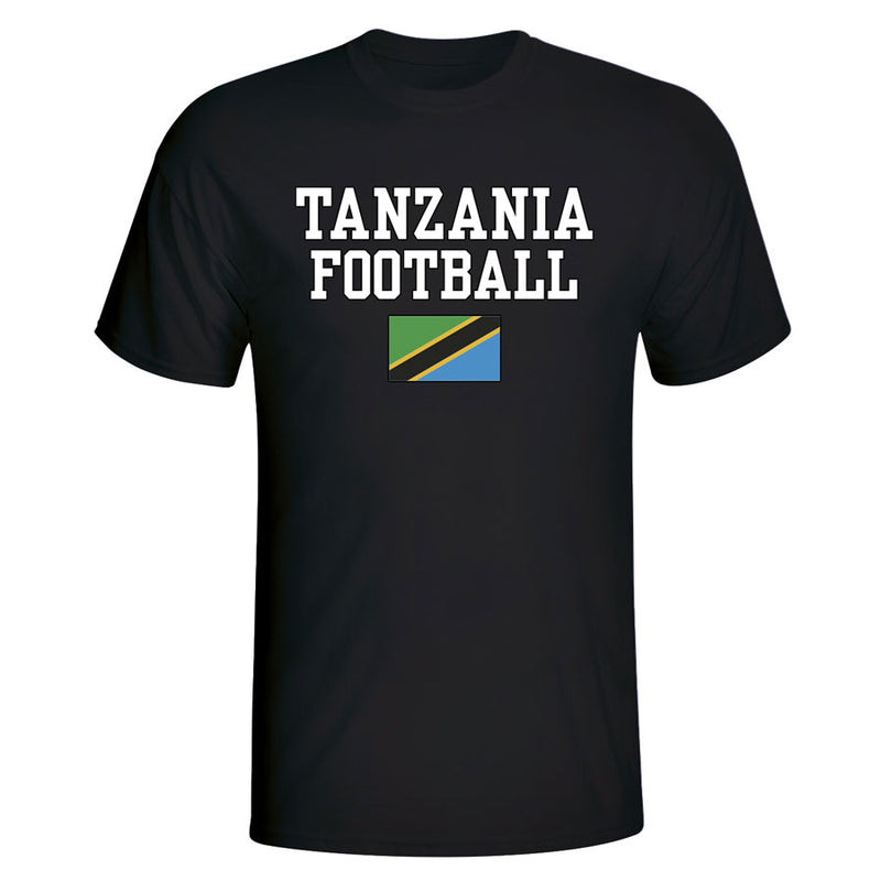 Tanzania Football T-Shirt - Black