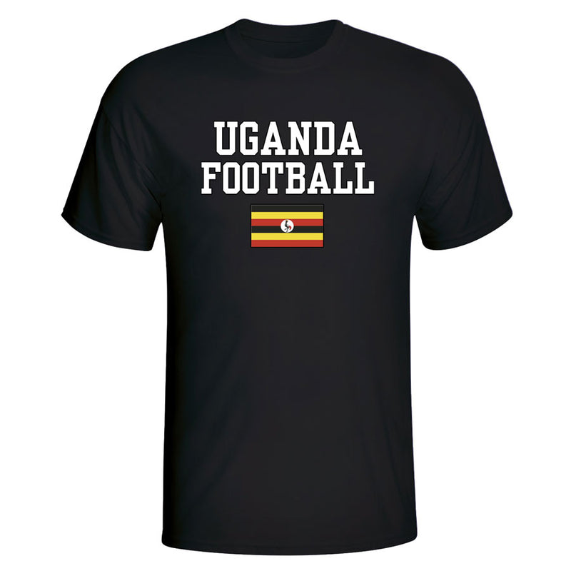 Uganda Football T-Shirt - Black