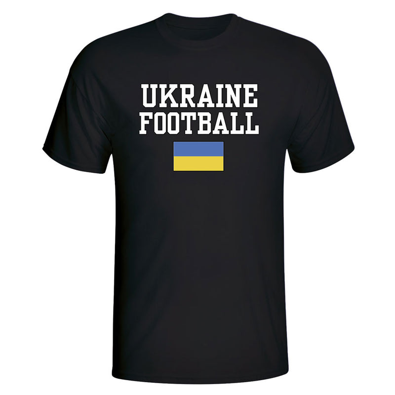 Ukraine Football T-Shirt - Black