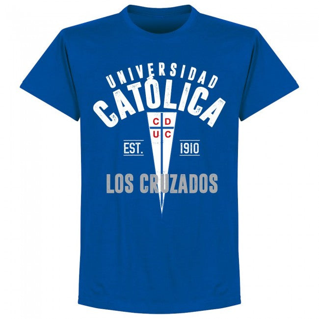Universidad Catolica Established T-Shirt - Royal - Terrace Gear