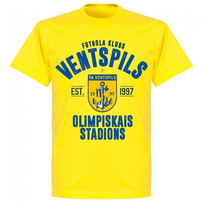 Ventspils Established T-shirt - Yellow - Terrace Gear