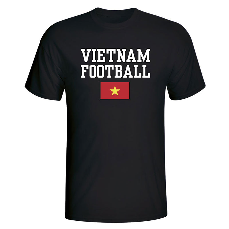 Vietnam Football T-Shirt - Black