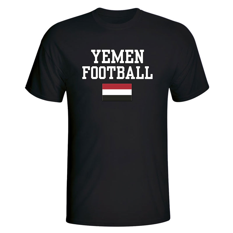 Yemen Football T-Shirt - Black