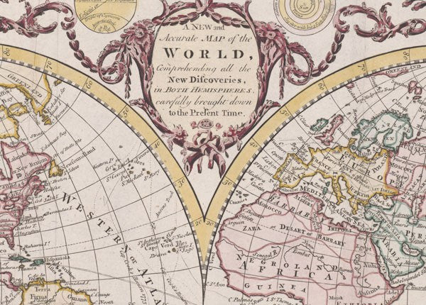 Wall mural poster old vintage antique maps world hemisphere classic world hemisphere map wall mural gumiabroncs Choice Image
